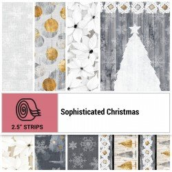 SOPC-STRIPS - SOPHISTICATED CHRISTMAS 2.5 STRIP ROLLS BY P&B BOUTIQUE 40PCS - ARRIVING IN JUNE 2021