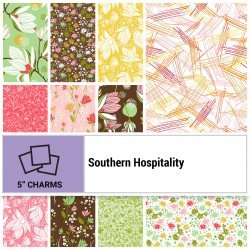 SOUH-005X5 - SOUTHERN HOSPITALITY 5 SQUARES BY P&B BOUTIQUE 42PCS - AVAILABLE TO ORDER
