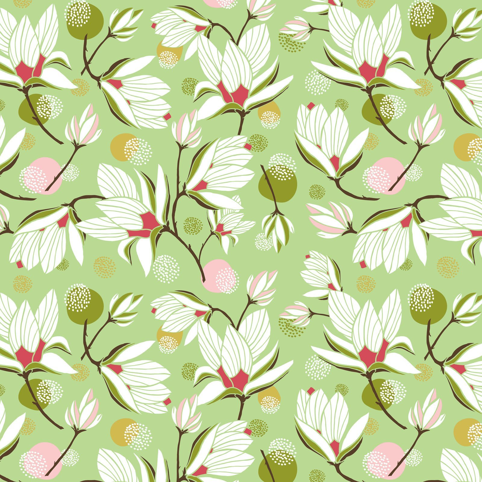 SOUH-4422 G - SOUTHERN HOSPITALITY BY HANG TIGHT STUDIO MAGNOLIA BLOSSOM GREEN - AVAILABLE TO ORDER