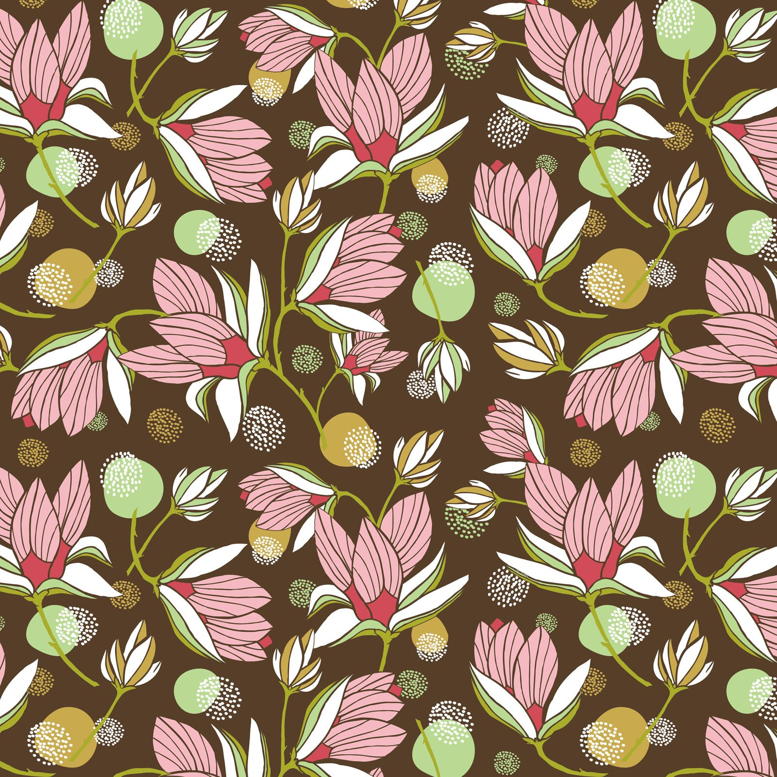 SOUH-4422 MU - SOUTHERN HOSPITALITY BY HANG TIGHT STUDIO MAGNOLIA BLOSSOM MULTI - AVAILABLE TO ORDER