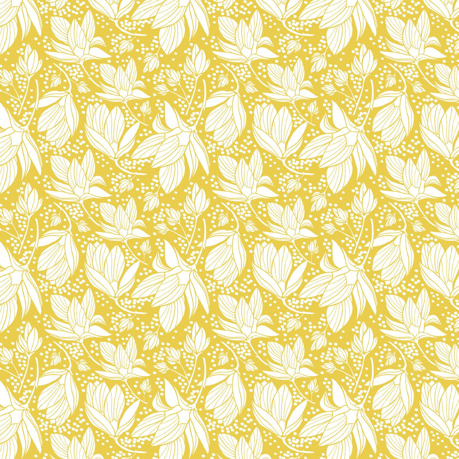 SOUH-4424 Y - SOUTHERN HOSPITALITY BY HANG TIGHT STUDIO MAGNOLIA SHOWER YELLOW - AVAILABLE TO ORDER