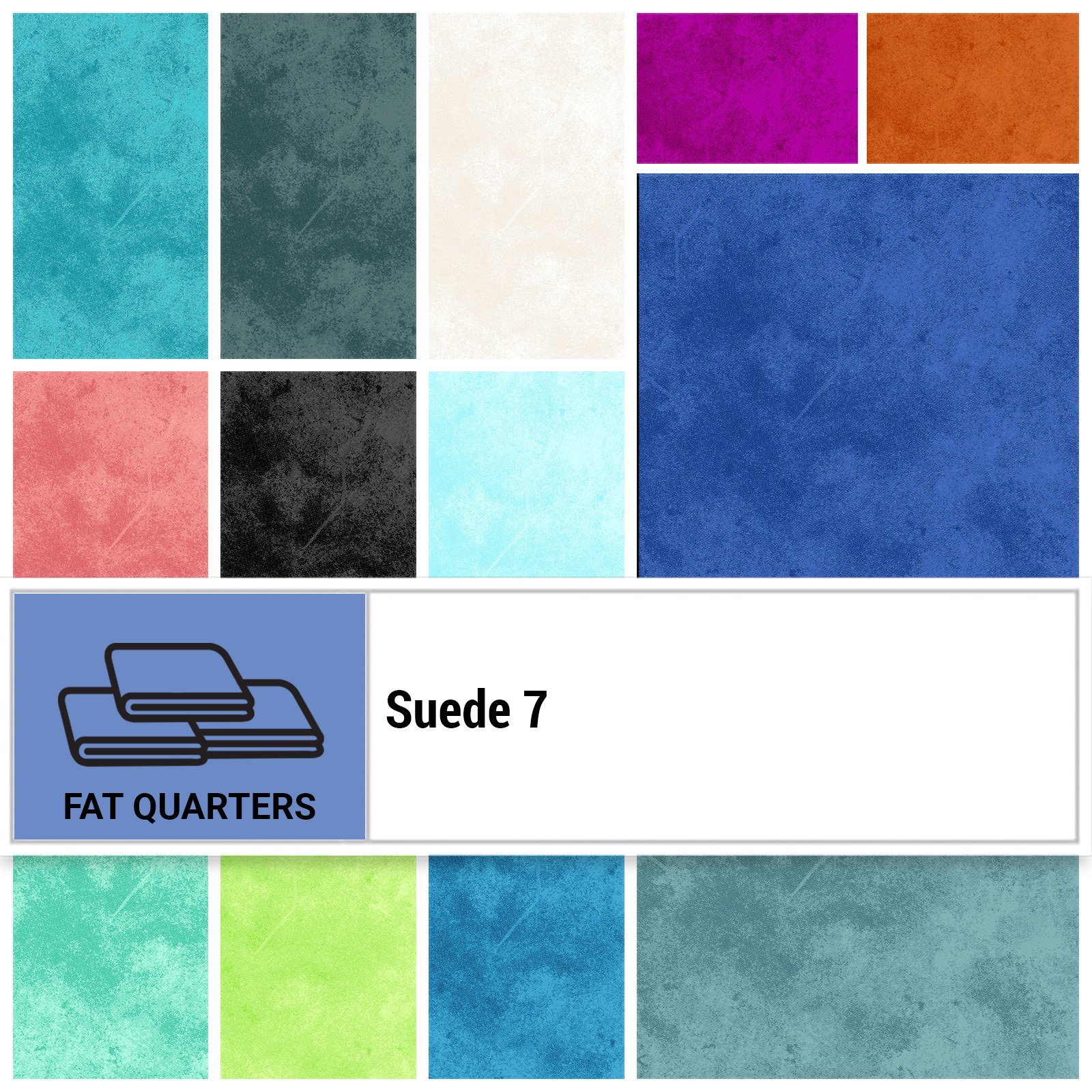 SUE7-18X22 - SUEDE 7 FAT QUARTER BUNDLE BY P&B BOUTIQUE 20PCS - ARRIVING IN AUGUST 2021