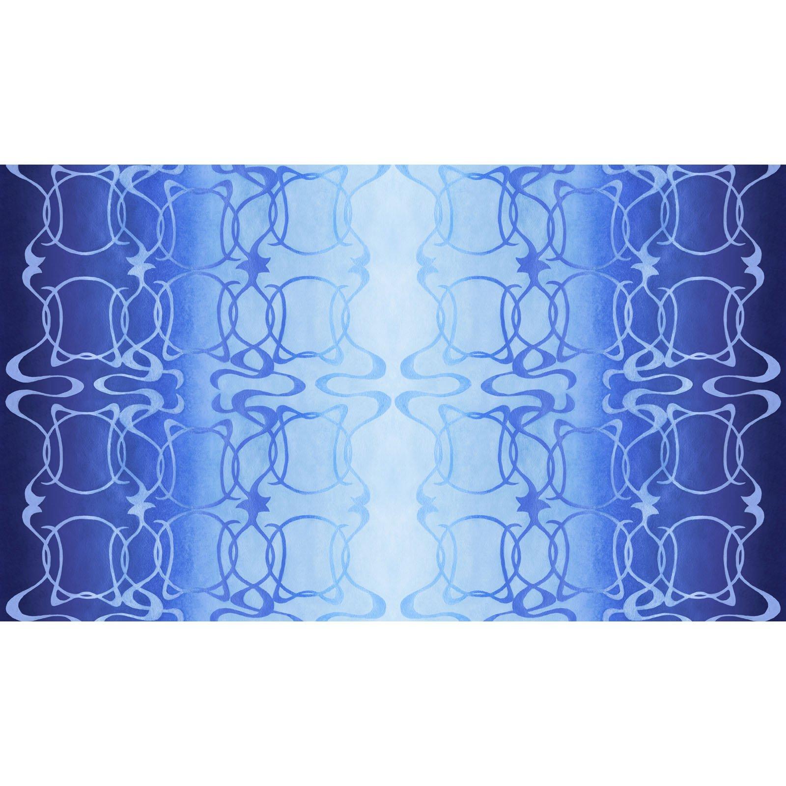 WILN-4355 B - WILDLIFE NOUVEAU DIGITAL BY JON VAN ZYLE NOUVEAU STRIPE BLUE - ARRIVING IN FEBRUARY 2021