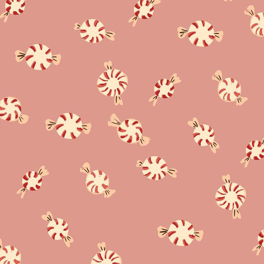 WIND-F50167 6 - SUGARPLUM FLANNEL BY HEATHER ROSS PEPPERMINTS PINK