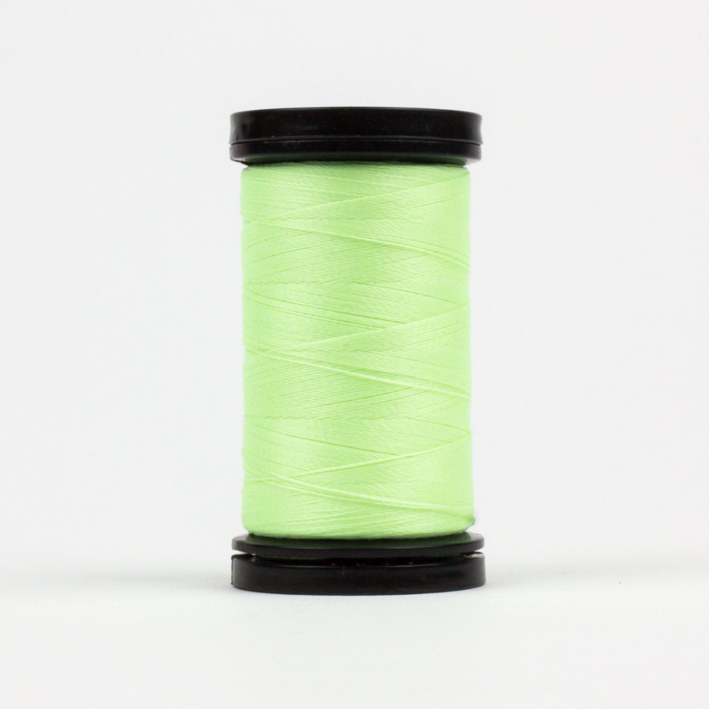 WOND-AR04 - AHRORA 40WT 100% POLYGLOW IN THE DARK THREAD 200YDS GREEN