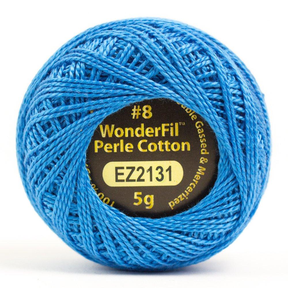 WOND-EL5G 2131 - ALISON GLASS ELEGANZA #8 PERLE 2PLY-100%COT SM 5G BLUE BONNET