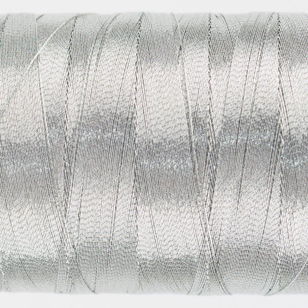 WOND-MC6601 - SPOTLITE 40WT RAYON CORE METALLIC BRIGHT SILVER SMALL 150M