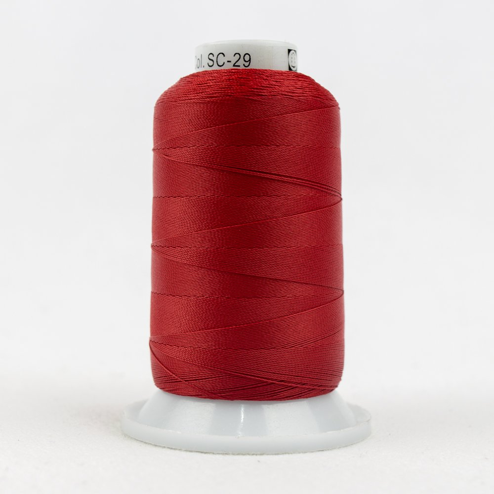 WOND-SC 29 - SILCO 35WT 3PLY 100%LINT FREE COTTON REG HOLIDAY RED