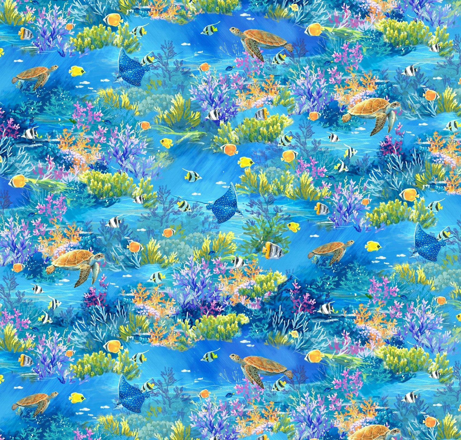 WPAR-4582 MU - WEEKEND IN PARADISE BY ABRAHAM HUNTER FISH & TURTLES - ARRIVING IN OCTOBER 2021