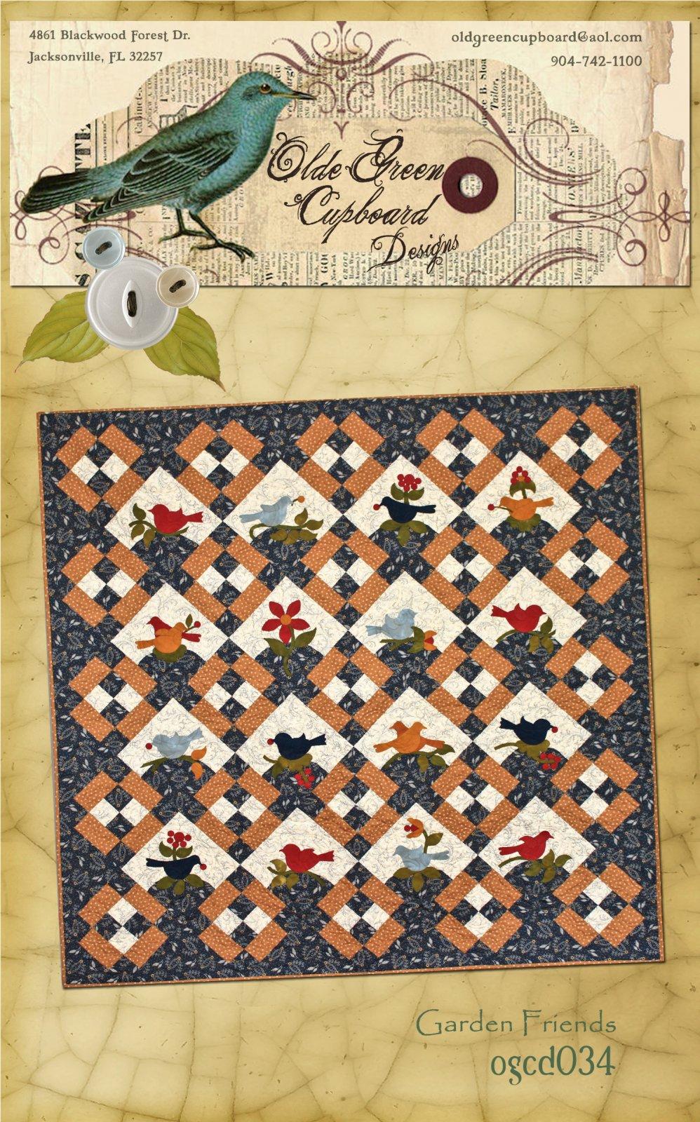 Garden Friends Quilt Pattern - OGCD034