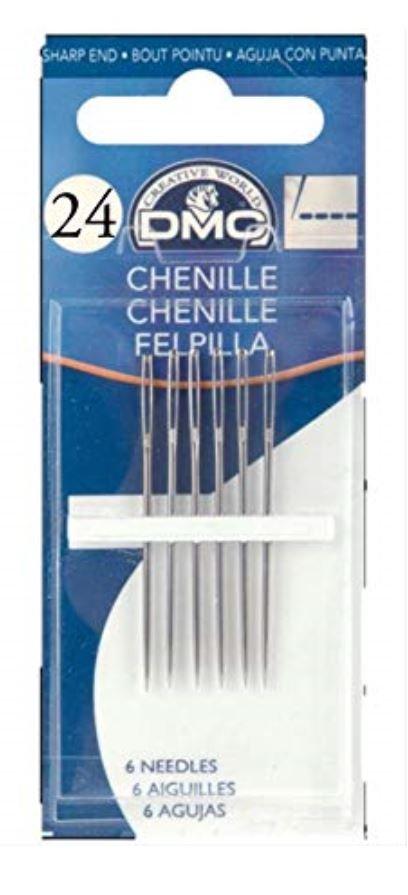 DMC Chenille Needles - Pack 6 - Size 24