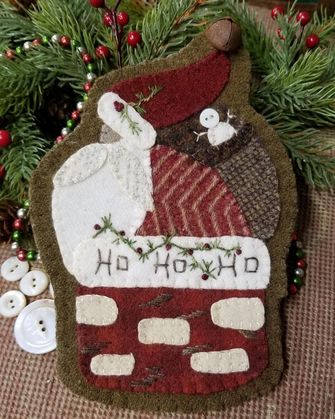 Down the Chimney Santa Wool Ornament Kit