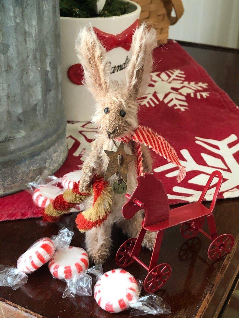 Bonbons - Mohair Christmas Bunny