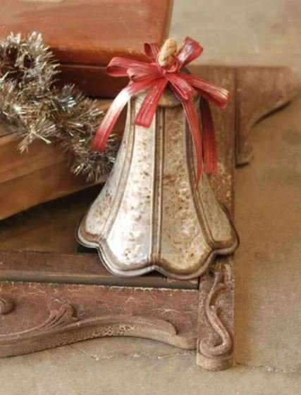 12 Flutura Metal Bell - Red Bow - Metal
