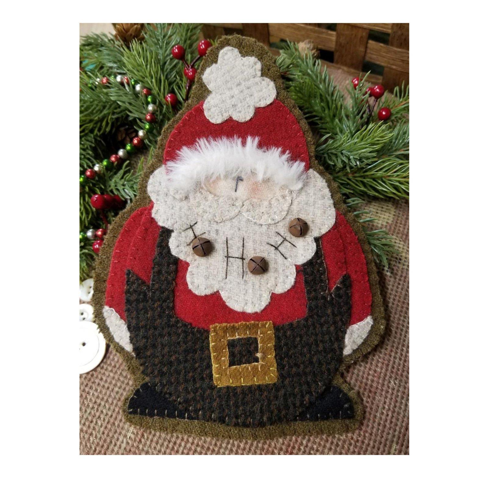 Ho! Ho! Ho! Wool Christmas Ornament Kit