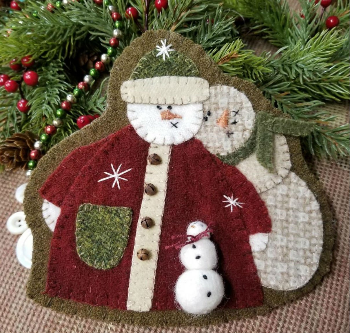 Snow Family Wool Ornament e-Pattern