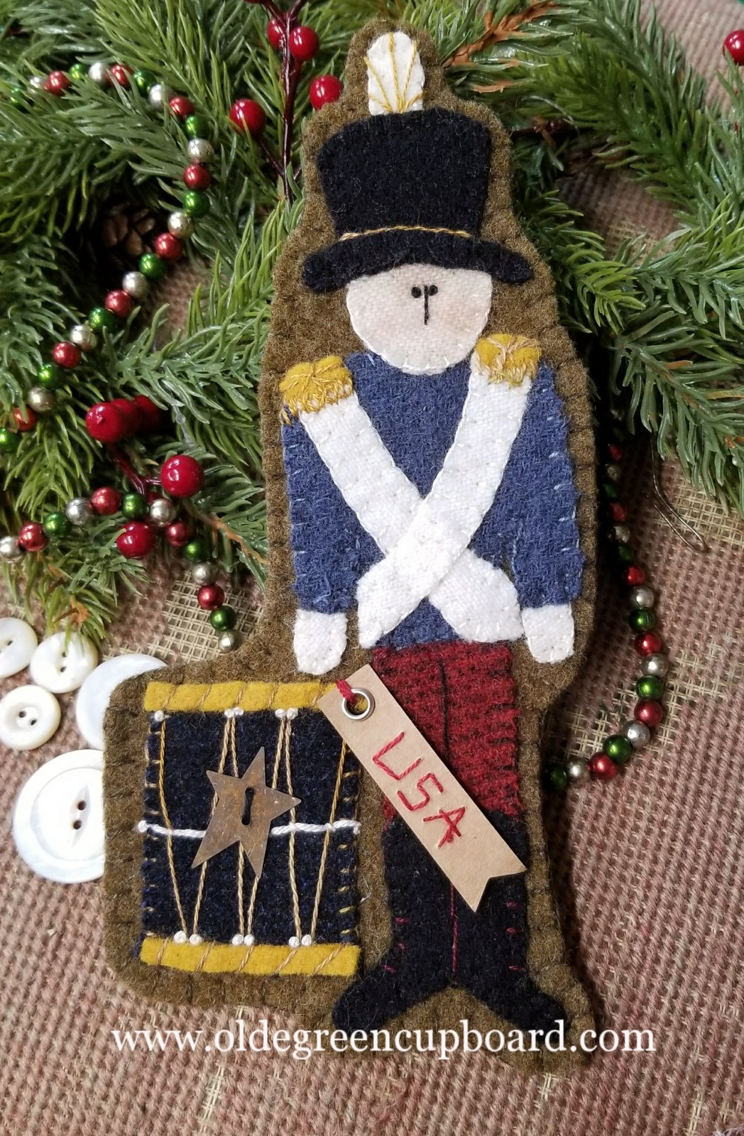 Christmas Soldier Wool Ornament KIT ONLY