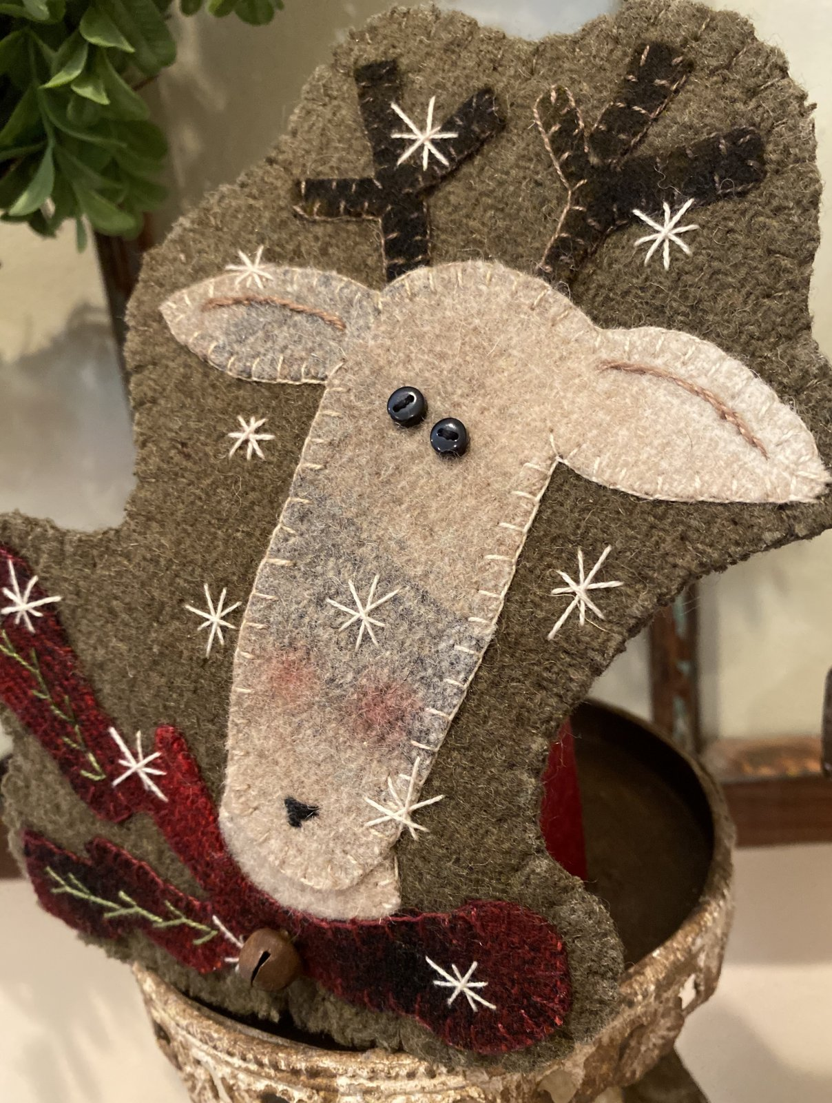 ** NEW **  Santa's Silly Reindeer e-pattern ONLY - Kit sold separately