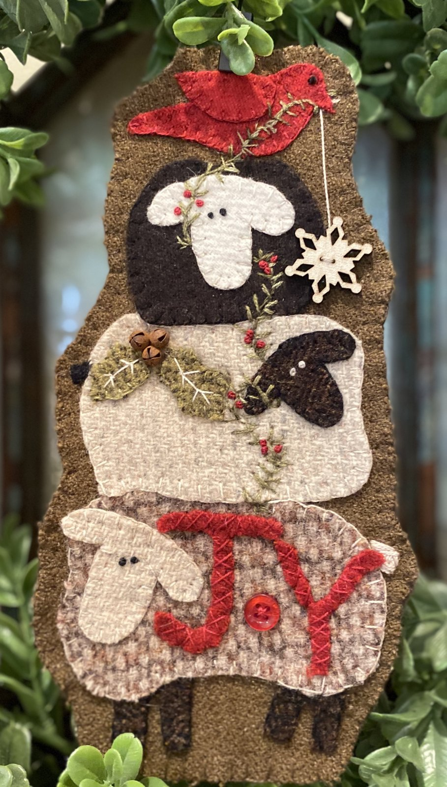 Jump for Joy Wool Christmas Ornament e-pattern ONLY
