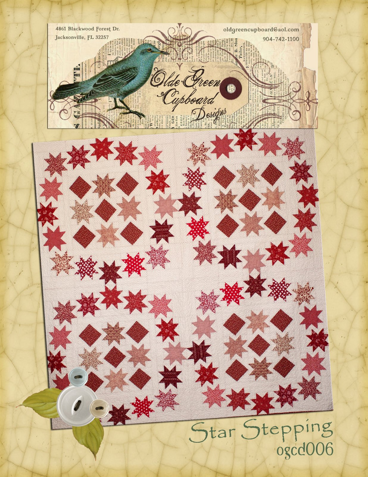 Star Stepping Quilt Pattern - OGCD06