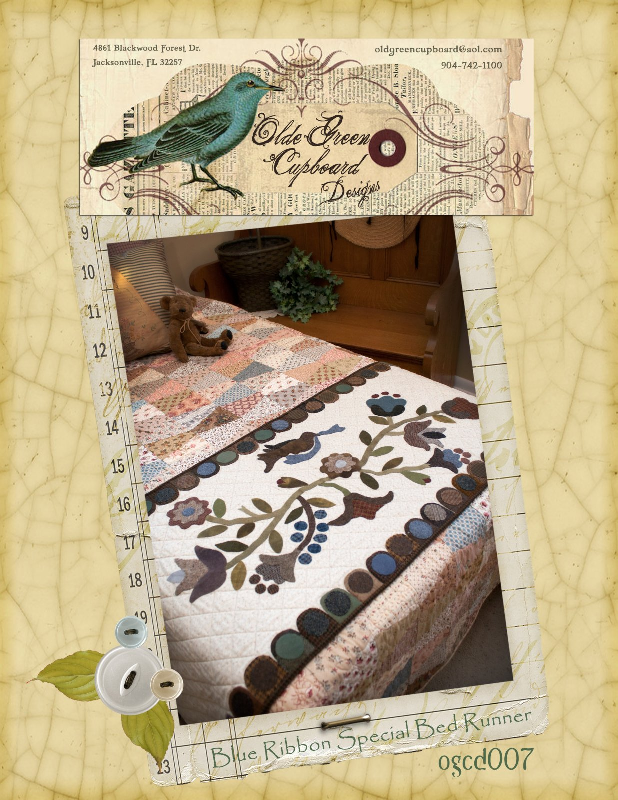 Blue Ribbon Special - Table / Bed Runner - OGCD007