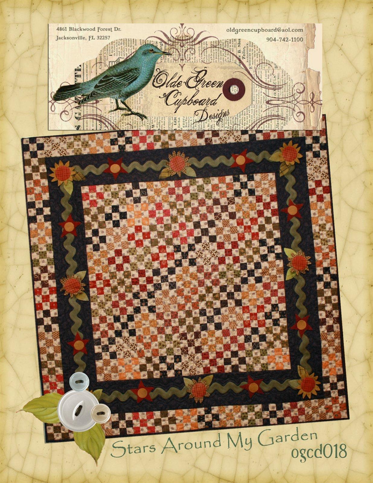 Stars Around My Garden Quilt Pattern - OGCD018