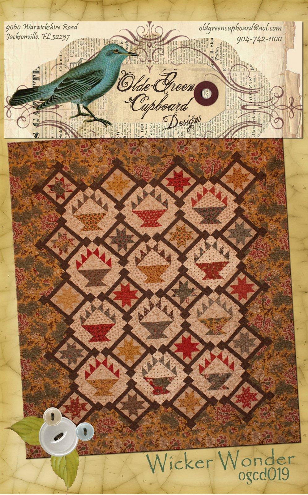 Wicker Wonder Basket Quilt Pattern - OGCD019