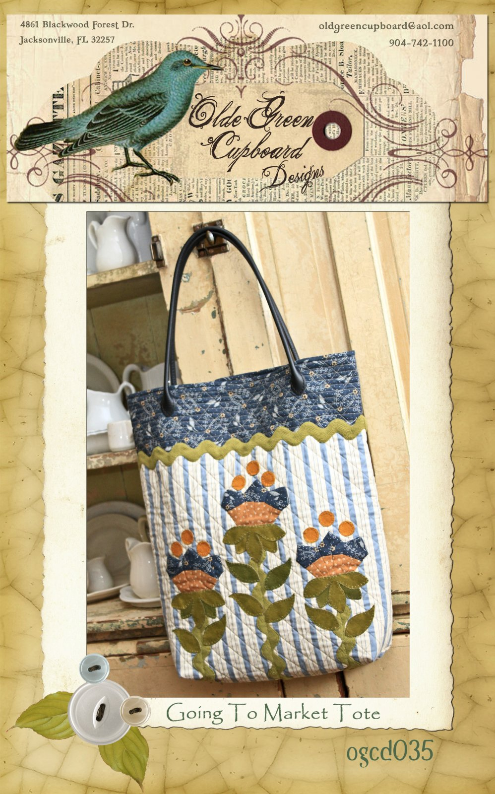 Going to Market Tote Pattern - OGCD035