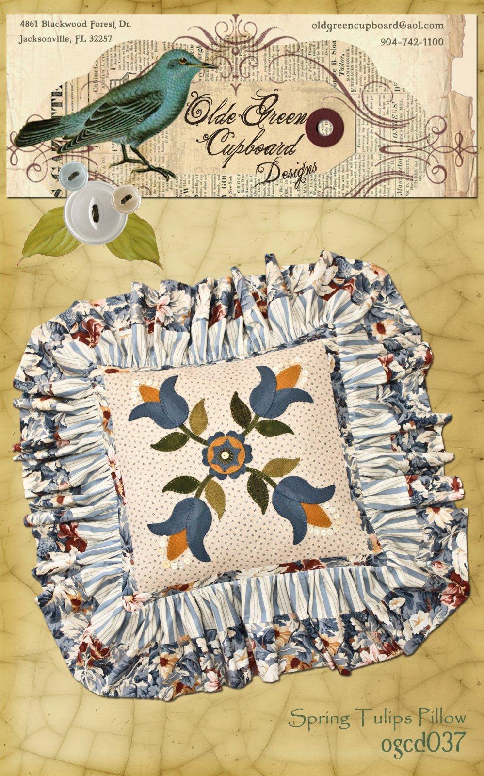 Spring Tulips Pillow Pattern - OGCD037