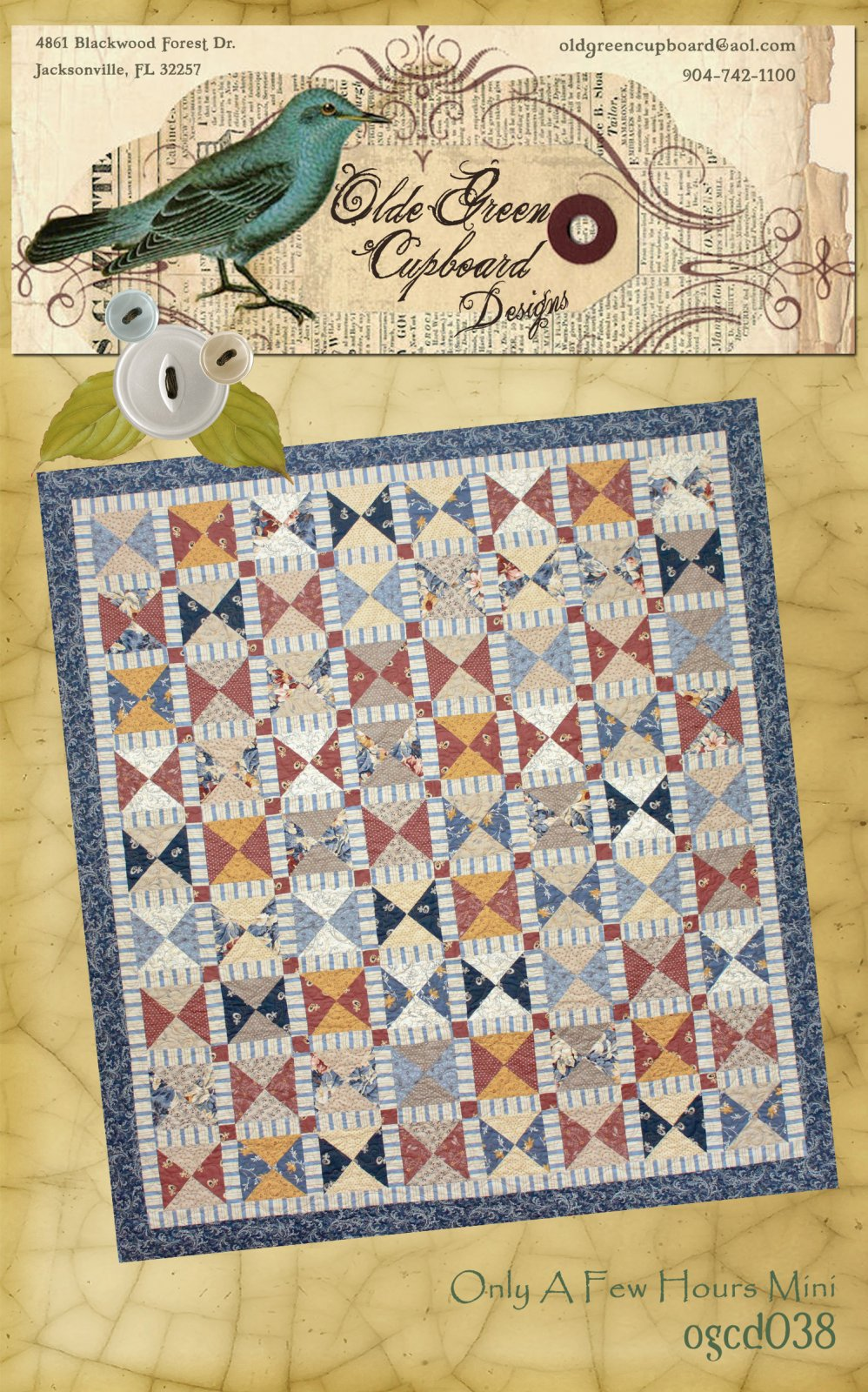 Only A Few Hours Mini Quilt Pattern - OGCD038