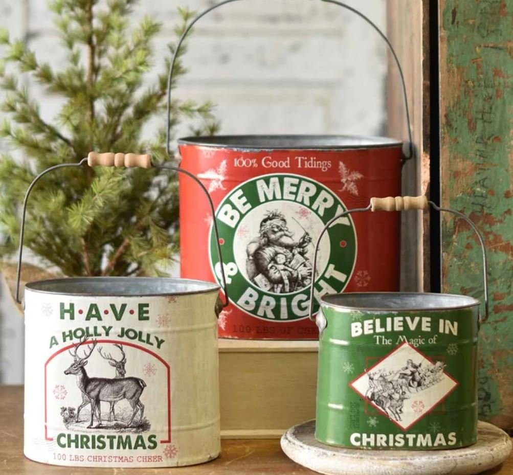 Good Tidings Buckets Set 3 - Metal