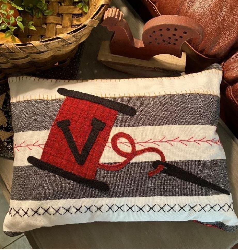 Spool & Thread Stitching Pillow Kit & Pattern