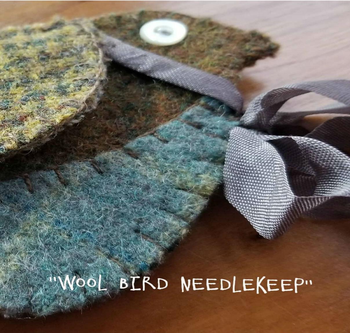 Blue Bird Wool Needle keep Kit & Pattern