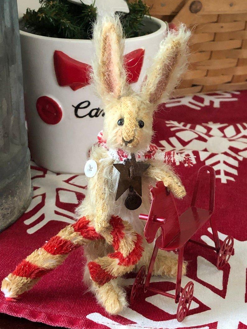 Sugar Plum - Christmas Mohair Bunny