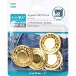 UNIQUE SEWING Jean Buttons No Sewing - Gold - 4 pcs. - 25mm (1)