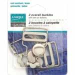 UNIQUE SEWING Overall Buckle - 25mm (1) - 2 pcs (silver)( gold)