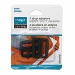 UNIQUE SEWING Strap Adjuster - Plastic  - Black - 2 pcs - 5 sizes