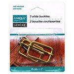 UNIQUE SEWING Slide Buckle - Metal  - 2 pcs- 4 colours -3 sizes