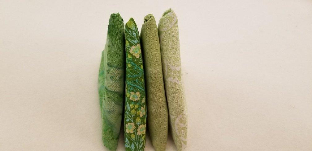4 Fat Quarters - Green