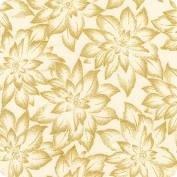 Holiday Flourish Gold Poinsettia