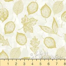 Batik - Natual Gold - Leaves