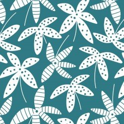 Tropical Lush - Leaves Pastel - Teal