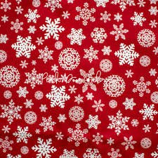 Christmas Delivery Red Snowflake