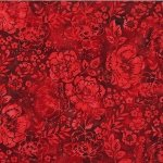 Hoffman Batik - Peony Red
