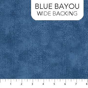 Crackle Wide Quilt Backing - Blue Bayou
