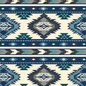 Southwest Fleece - Southwest Stripe - Blue