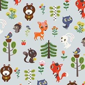 Forest Babes by Helen Dardik - Baby Friends in Light Grey