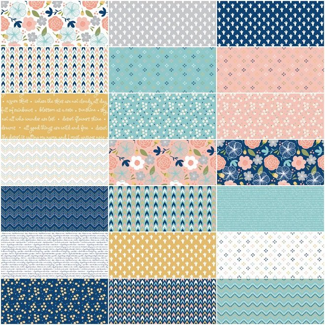 Azure Skies 2.5 Strips by 44 Long 40 Pieces