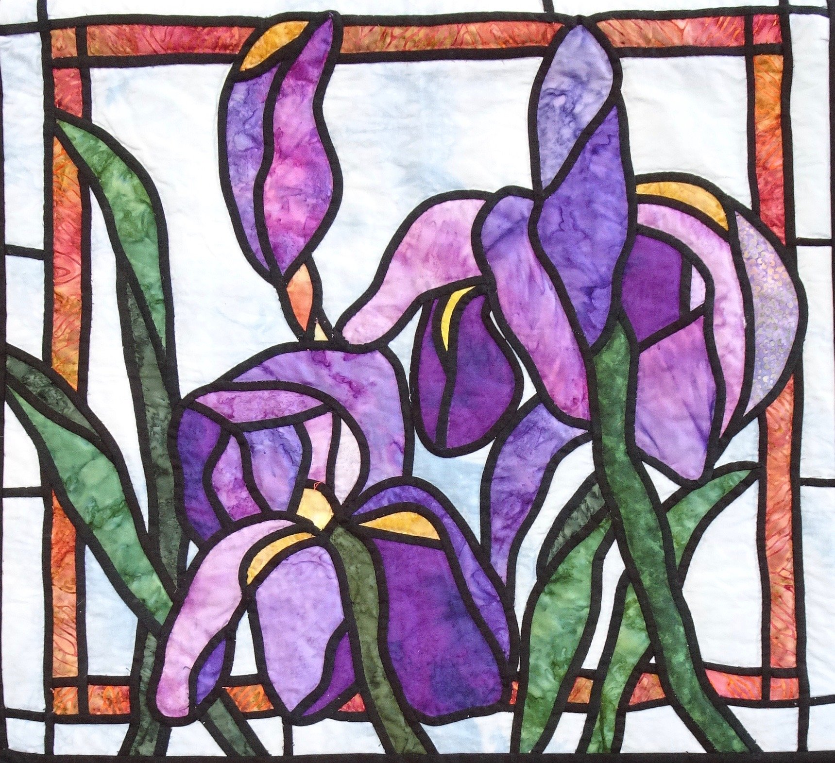 22-031 Stained Glass Iris