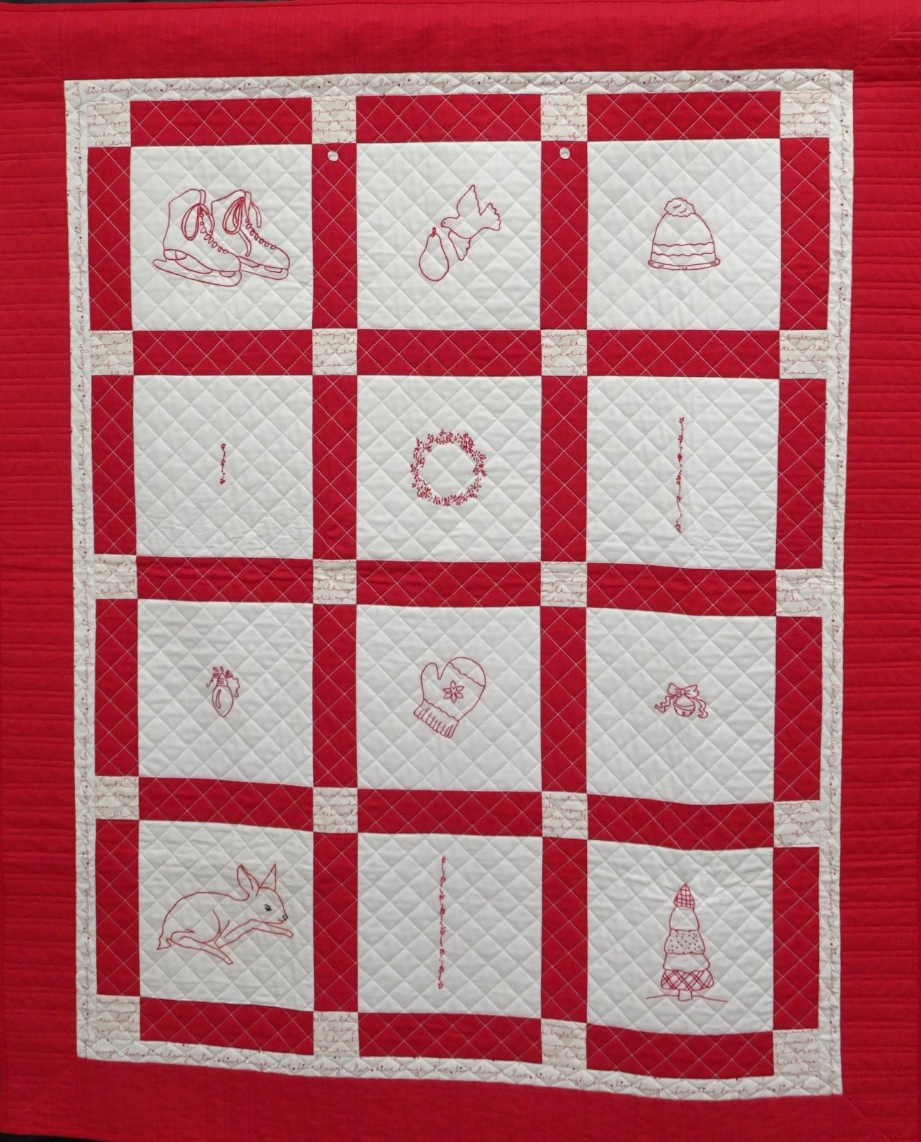 22-088 Holiday Redwork Sampler